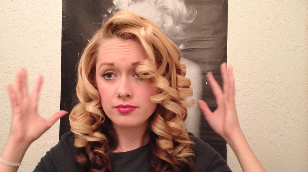Marilyn Monroe Glamour Curls Vintage Hair Tutorial