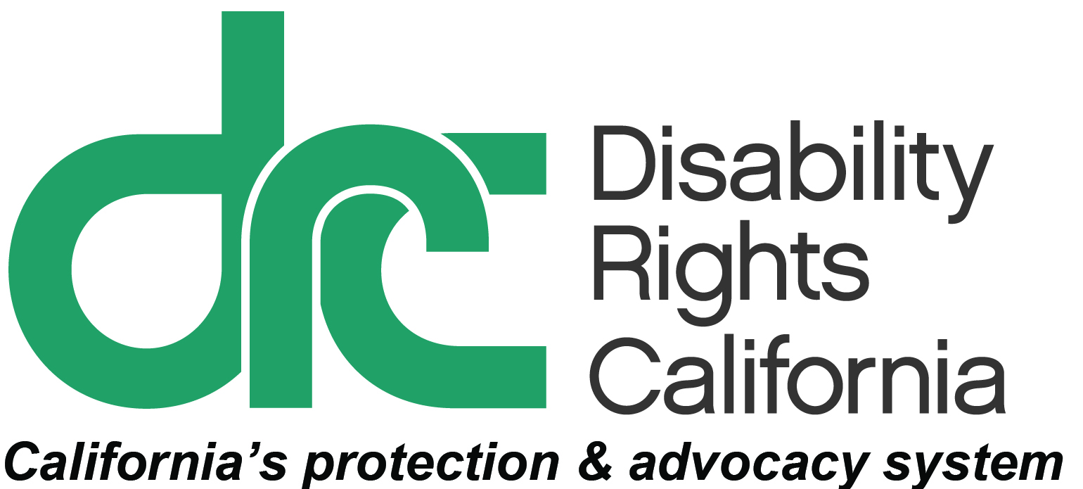 Logo for Disability Rights California.