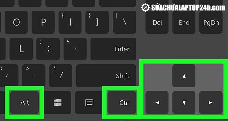 Cách xoay màn hình máy tính bằng cách nhấn tổ hợp phím