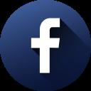 circle, facebook, high quality, long shadow, media, social, social media icon