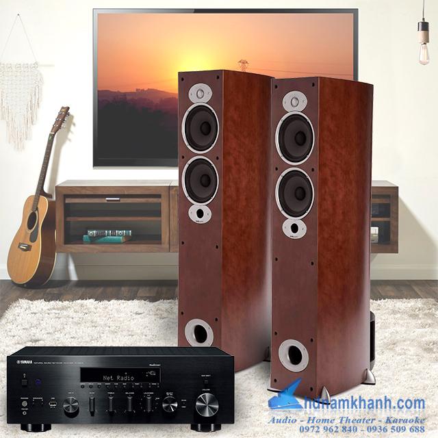 Bộ Hifi Yamaha R N803 + Loa Polk Audio A5