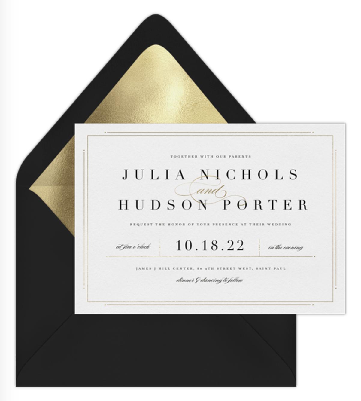delicate border invitation