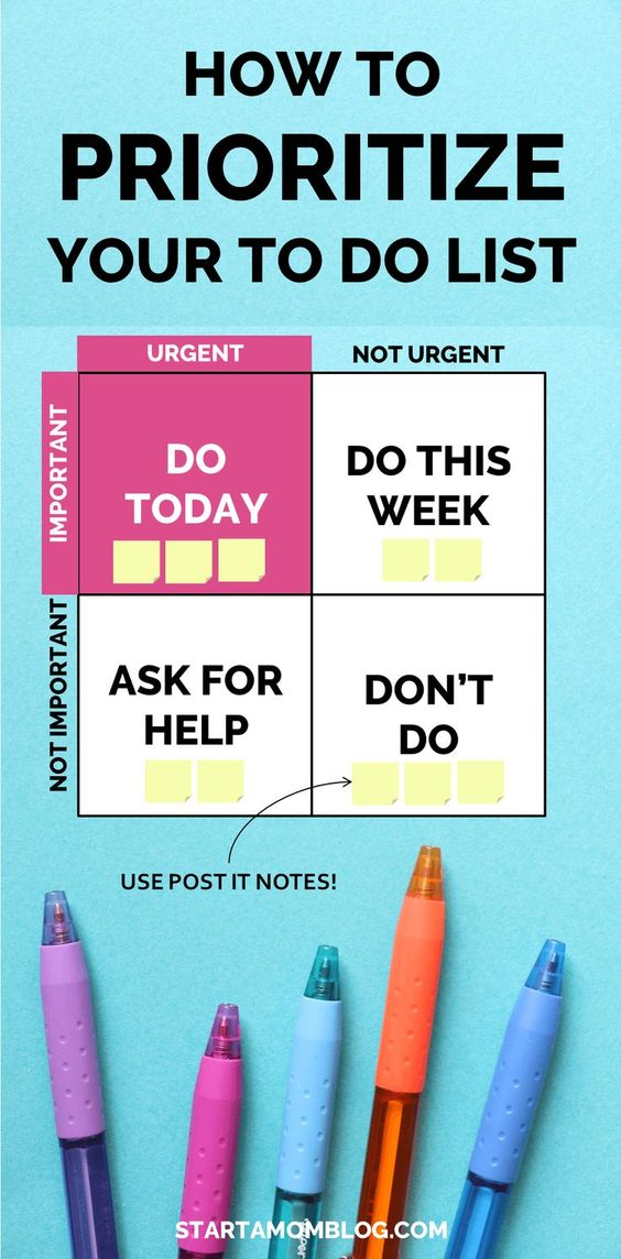 How to Be More Productive and How to Prioritize your To Do list. Ridiculously Simple Method How to Set Your Priorities - Start a Mom Blog: