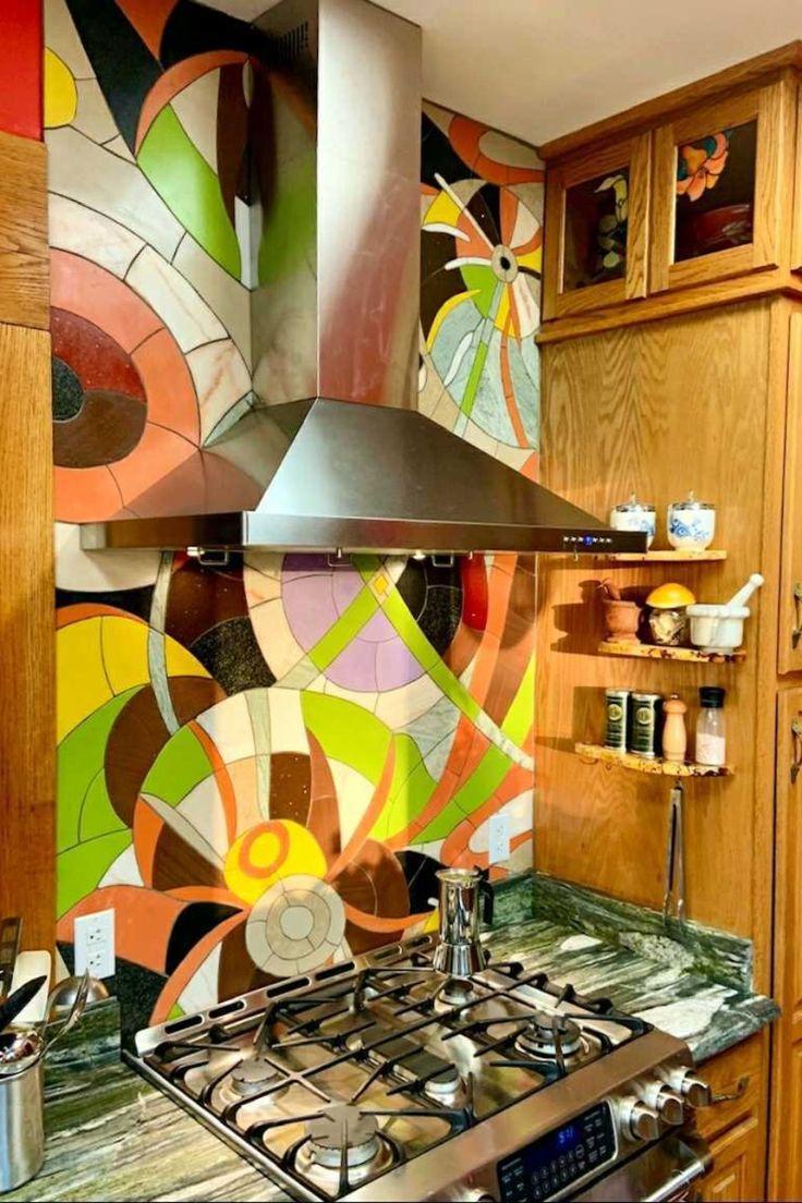 Circular Chaos - Abstract Mosaic Patterns by Mozaico