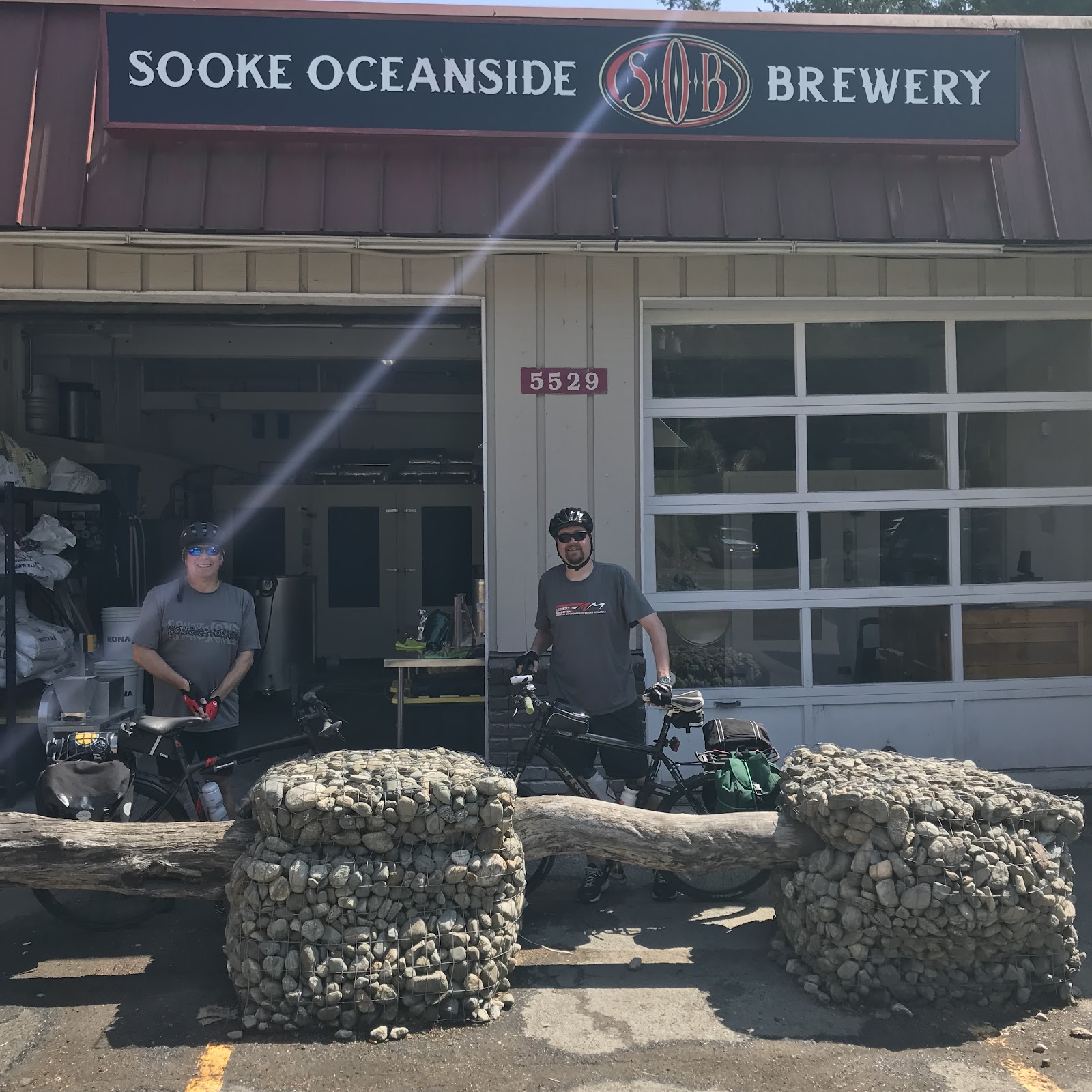 Glen and Chris at Sooke Oceanside Brewery