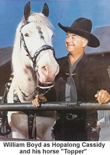 Hopalong Cassidy and his horse Topper.