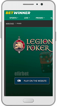 BetWinner mobile poker for Android
