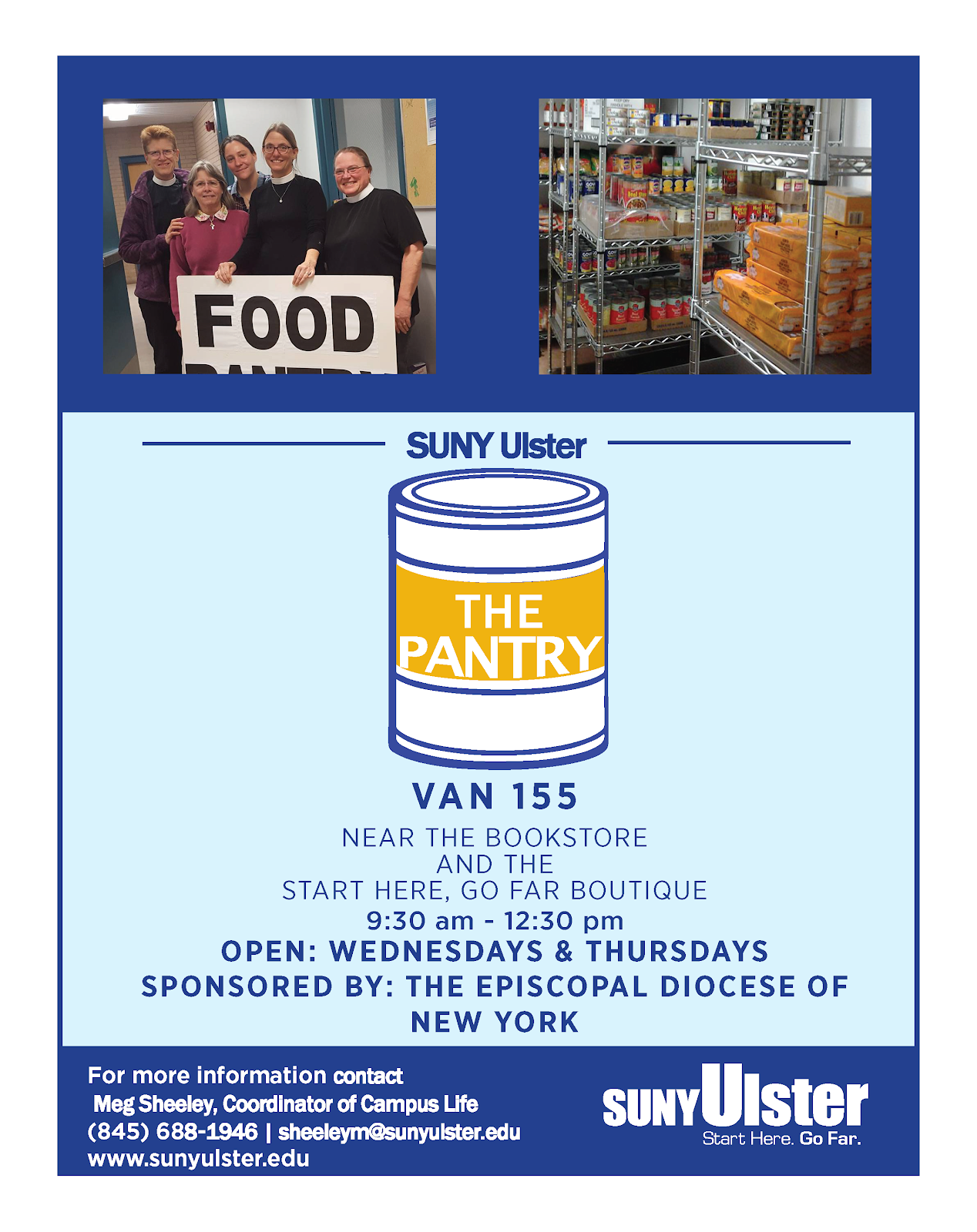 SUNY Ulster Food Pantry poster