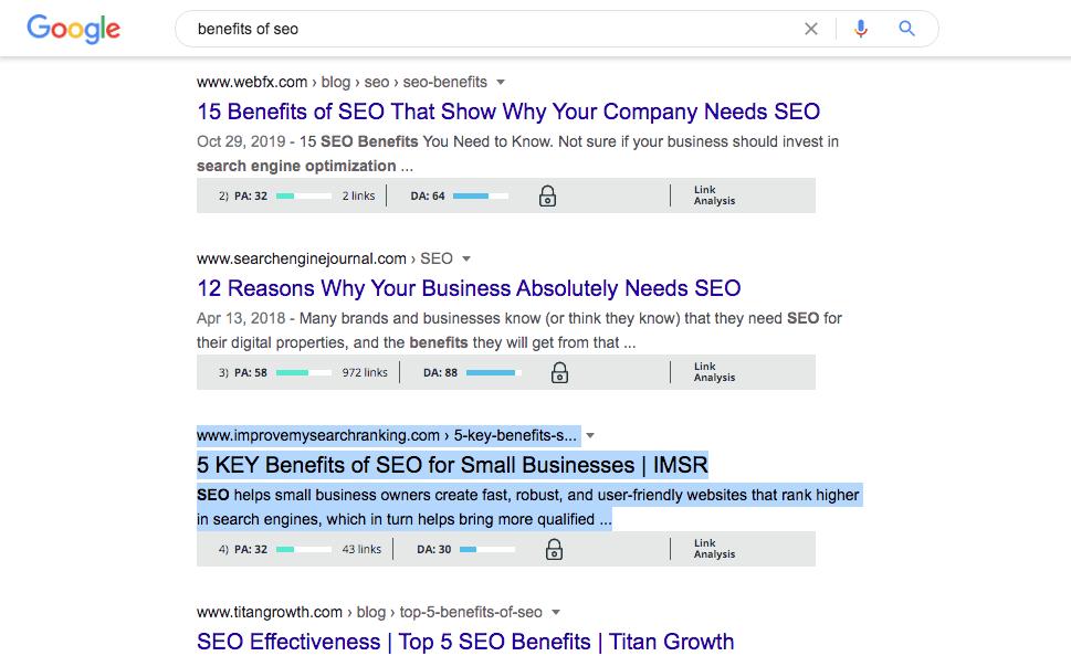 kết quả tìm kiếm google