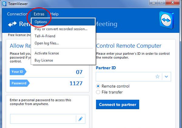 Đổi mật khẩu Teamviewer sau mỗi lần tương tác