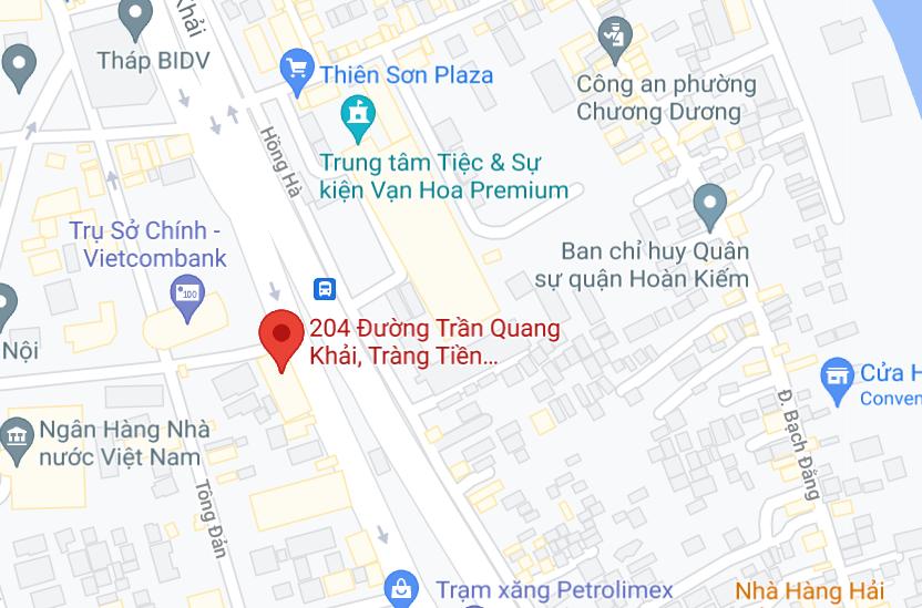 Địa điểm đón/ trả khách tại Hà Nội