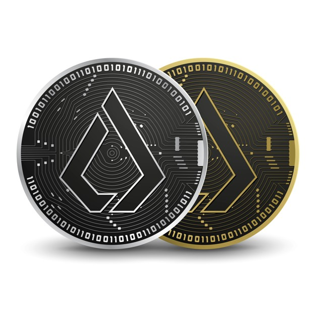 Lisk cryptocurrencie coin Premium Vector