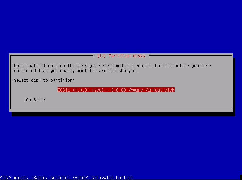 Подтвердите разбиение диска. Если вы устанавливаете систему на физический диск, учитывайте, что все данные на диске будут удалены!
