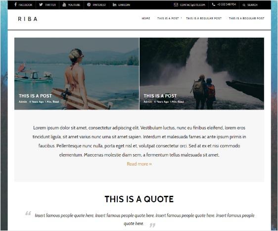 Riba Lite Free WordPress Theme