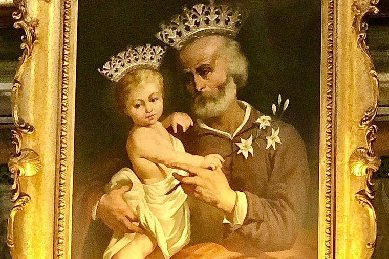 The 'Crowned St. Joseph' painting is present in the Basilica of San Carlo al Corso in Rome. The Church's  special Year of St. Joseph is underway.