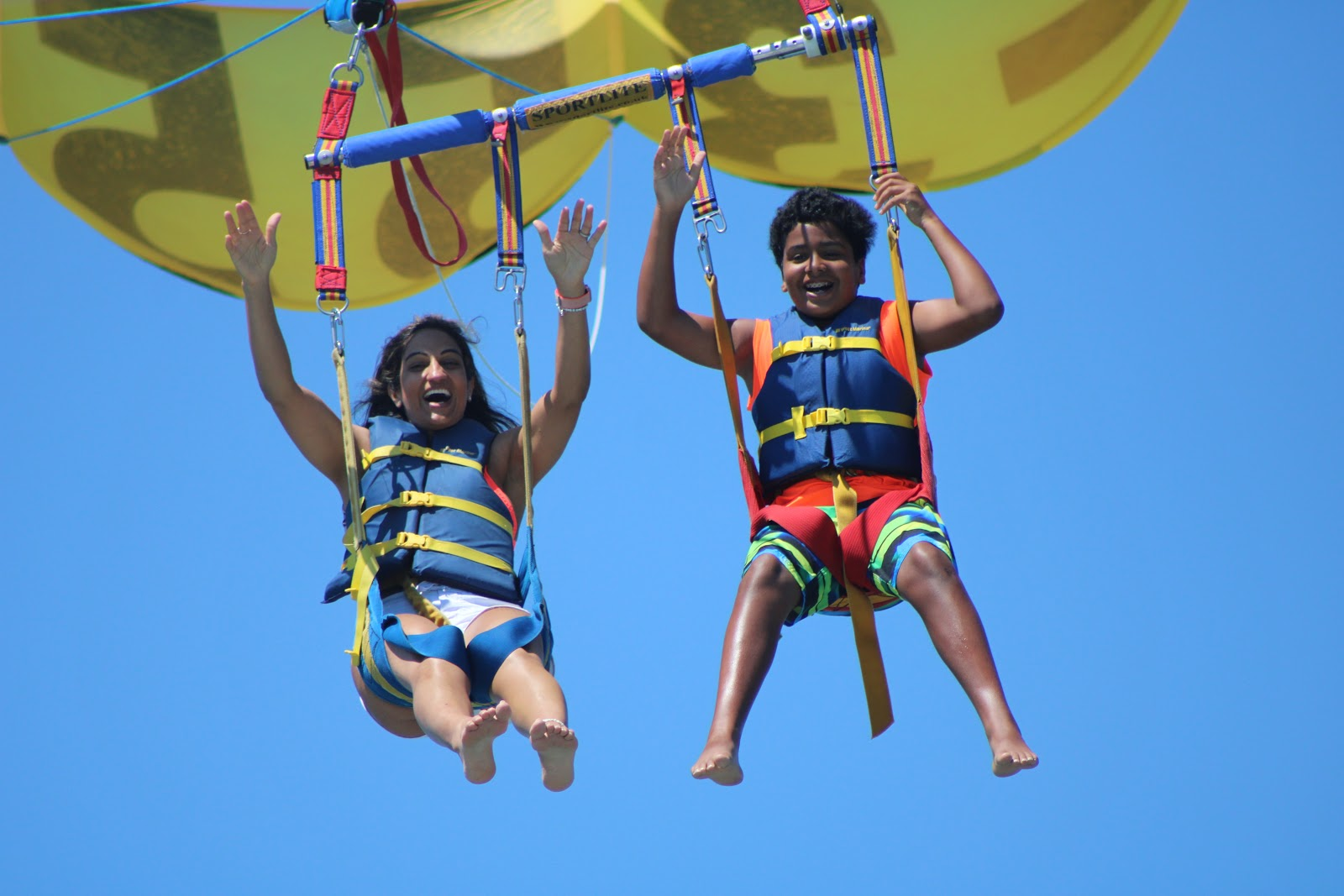 Nagina Sethi parasailing
