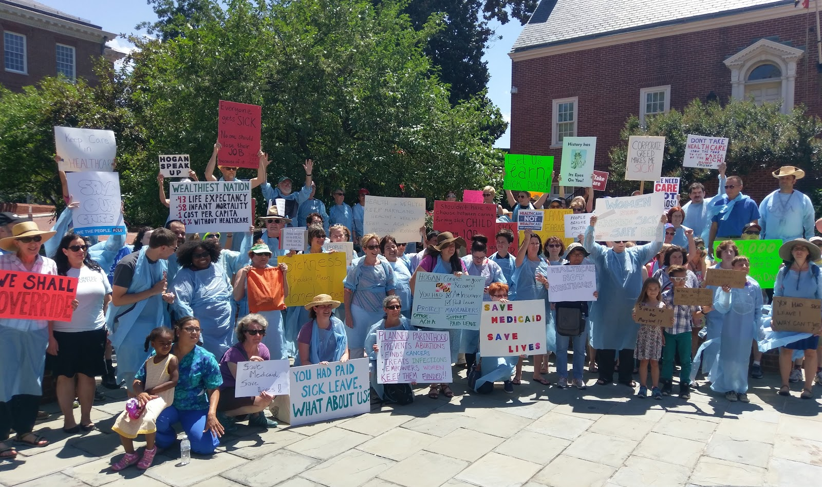Rally for Healthcare and Medicaid in Annapolis
