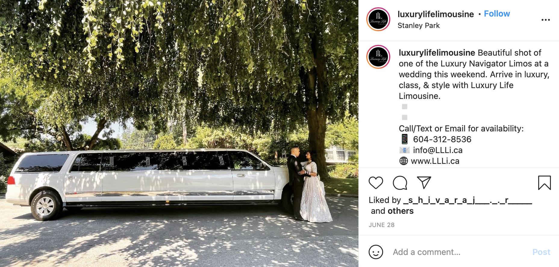 limo wedding car