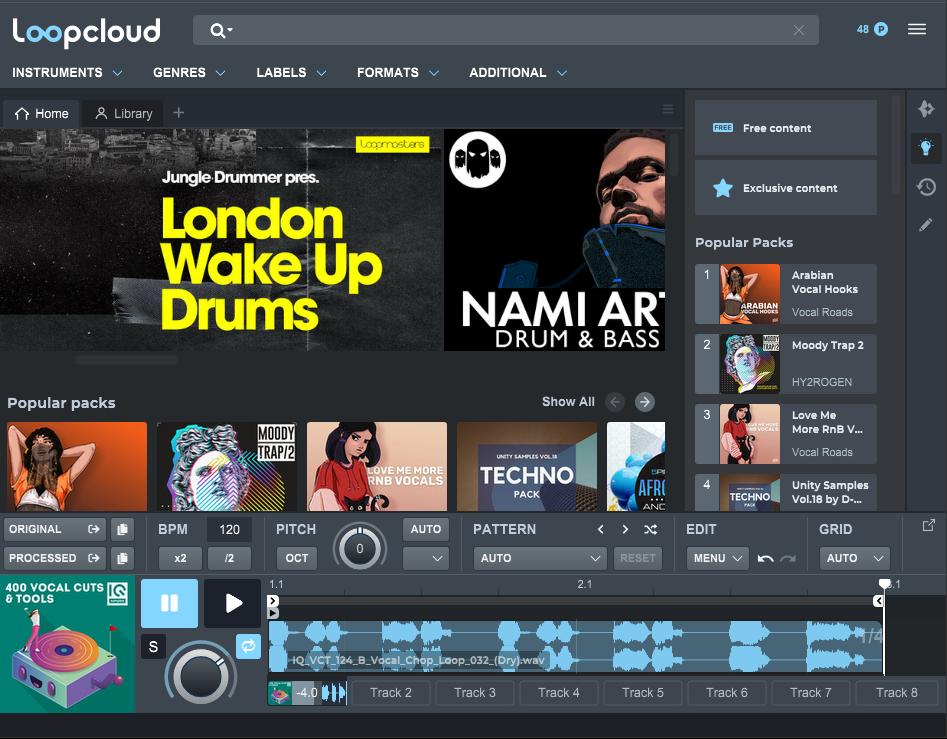 loopcloud cloud based sample library software