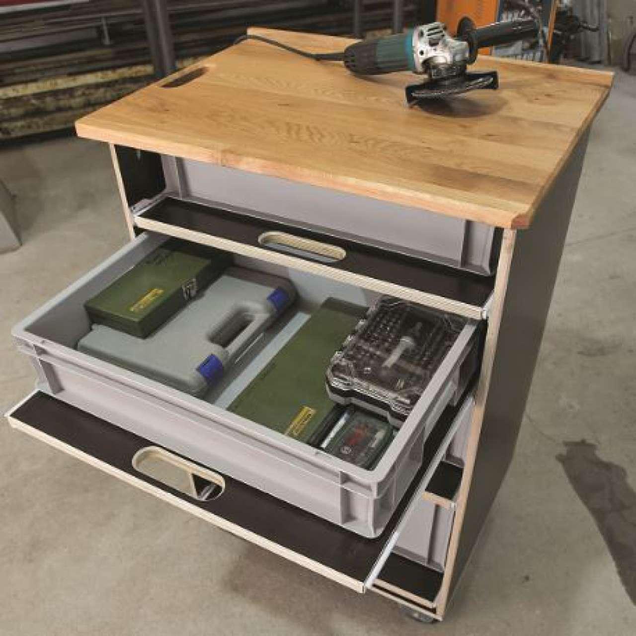 Praktischen Werkstattwagen günstig selber bauen - News - Technik ...