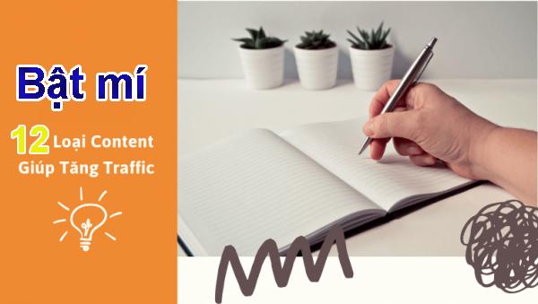12 loại content giúp tăng traffic