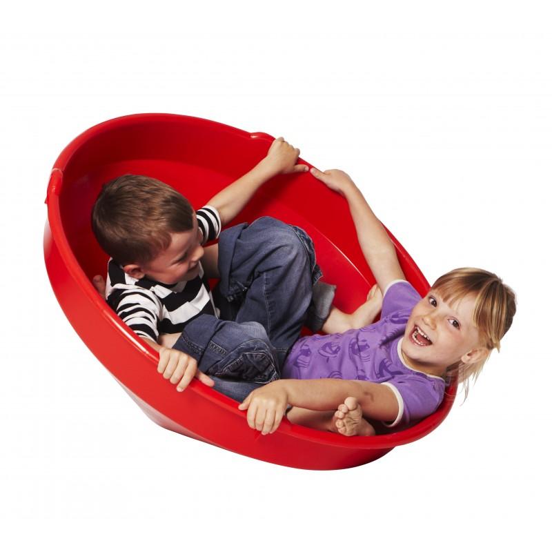 Deze tol, die geschikt is voor 1 of 2 kinderen, biedt uren speelplezier: balanceren, draaien...