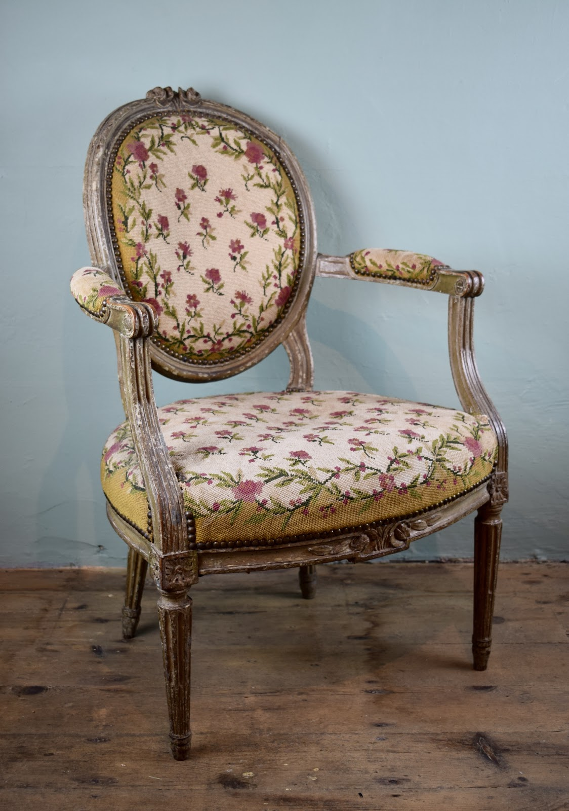 Antique chair for reupholstery