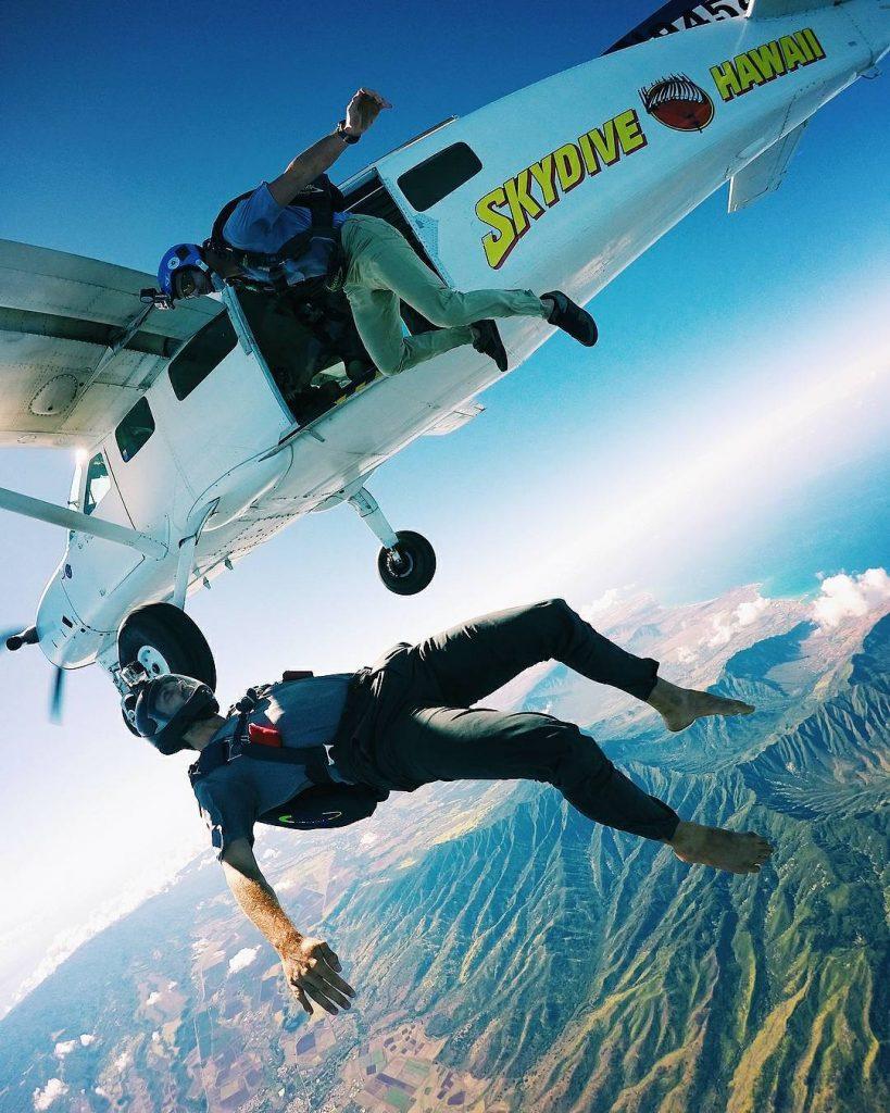Skydiving in North Shore Oahu
