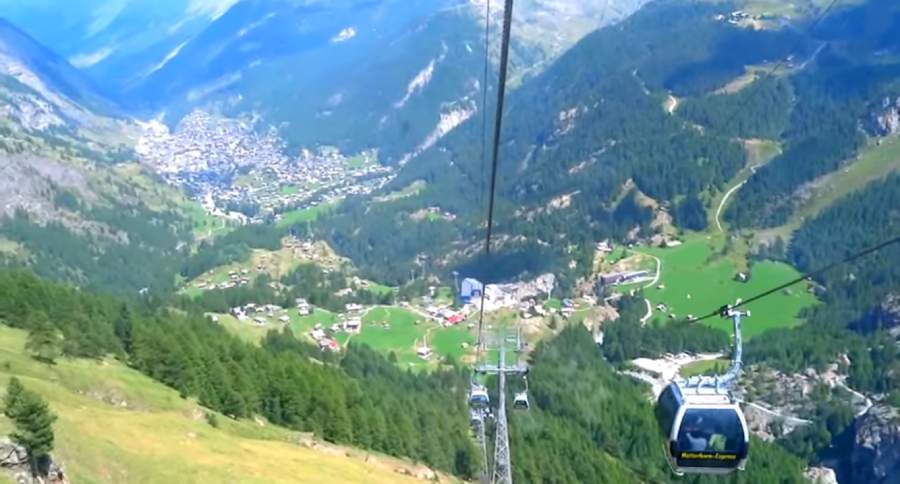 Cable car Best Time to Visit Switzerland
