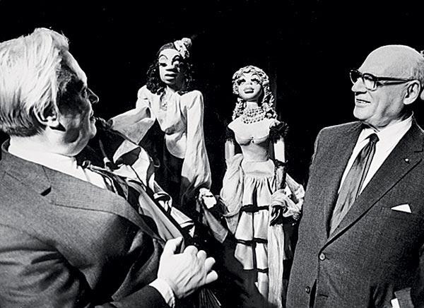 Сергей Образцов и Сол Юрок, организовавший гастроли Театра кукол в США. AKG/EAST NEWS,