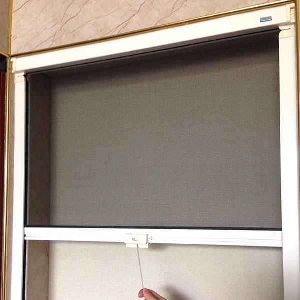 Cửa lưới chống muỗi tự cuốn màu trắng sứ (Miễn phí lắp đặt)