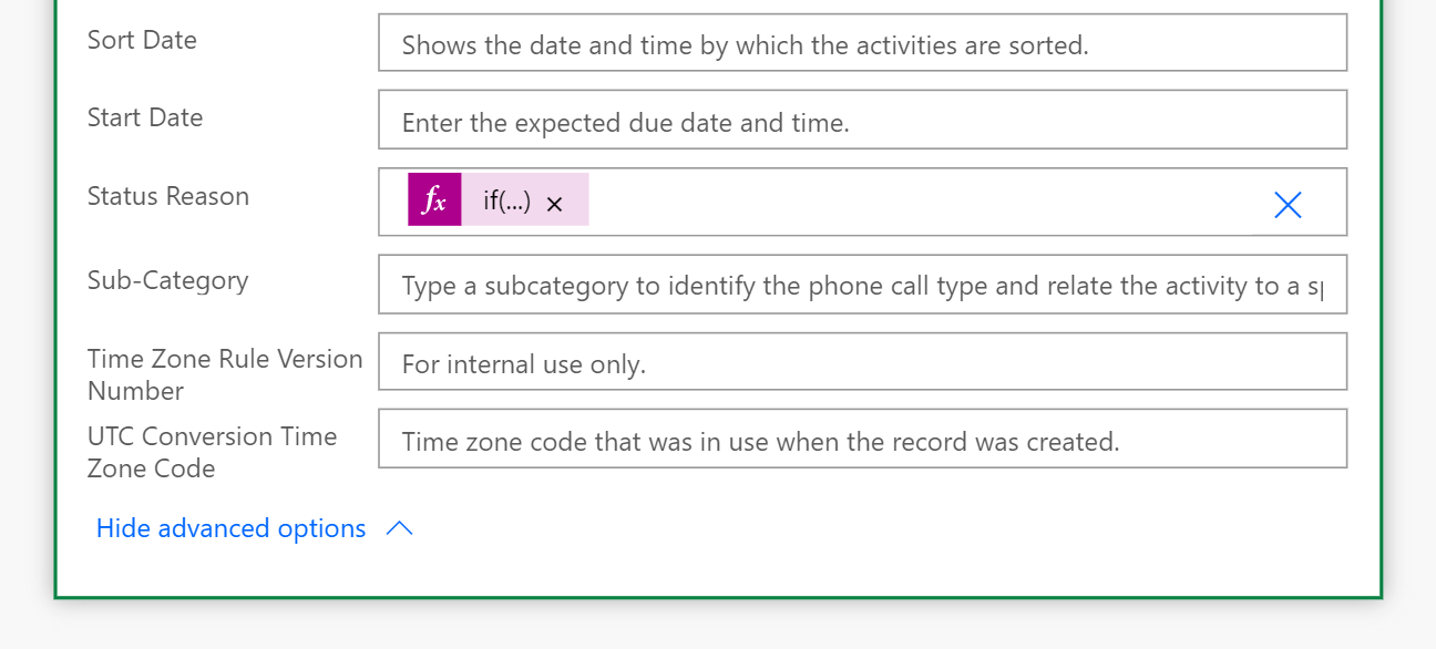 form in in Power Automate