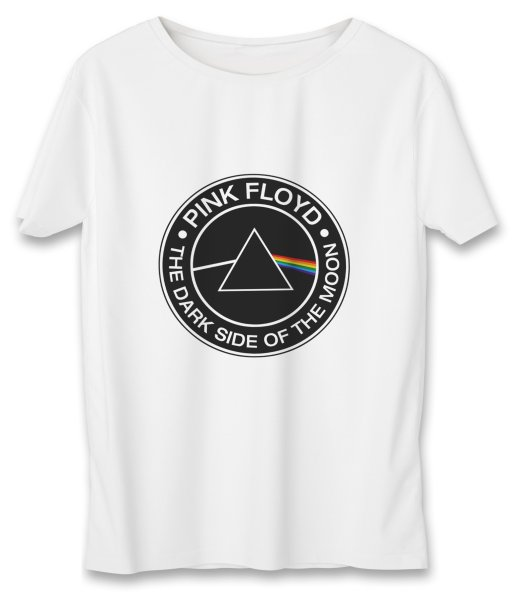 تی شرت زنانه به رسم طرح پینک فلوید کد 581