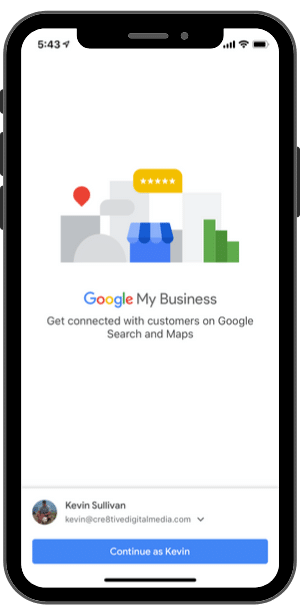 Google My Business-iPhone App
