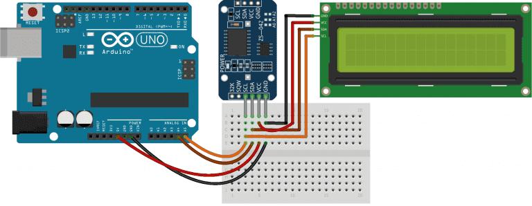 Arduino日历时钟的电路图
