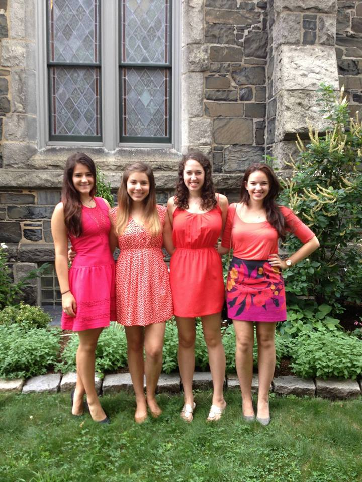 My freshman roommates and me all dressed up for Convocation during Opening Days!