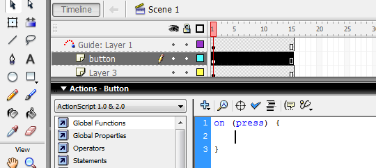 Animasi Macromedia Flash 8 - Timeline Control