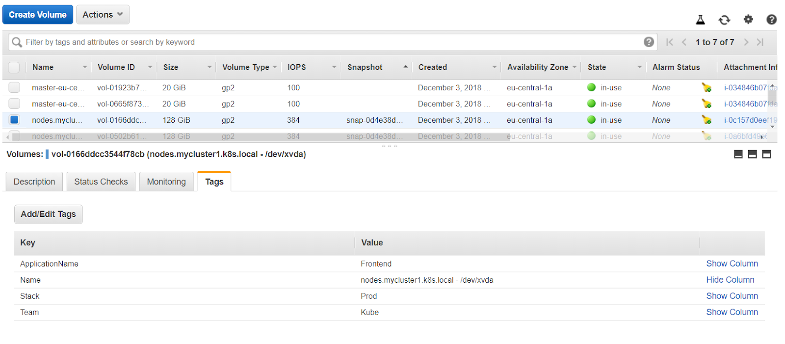 How to Tag Kubernetes Cluster Resources on AWS using Kops