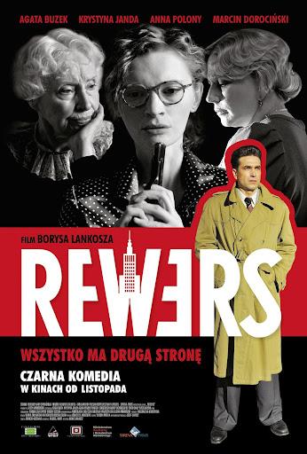 Polski plakat filmu 'Rewers'
