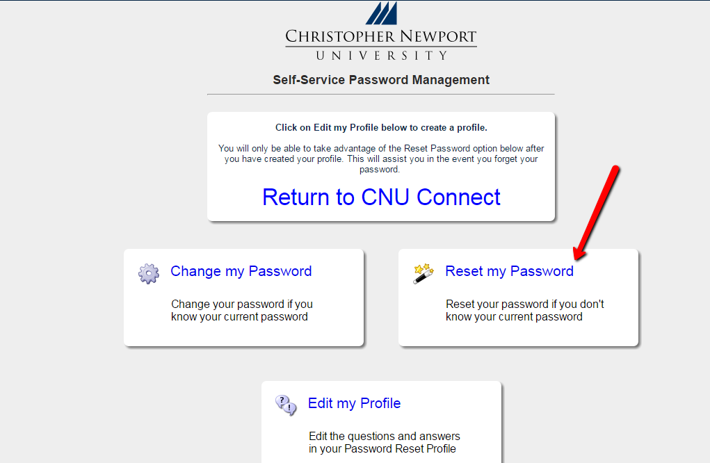 Password Management Reset Password