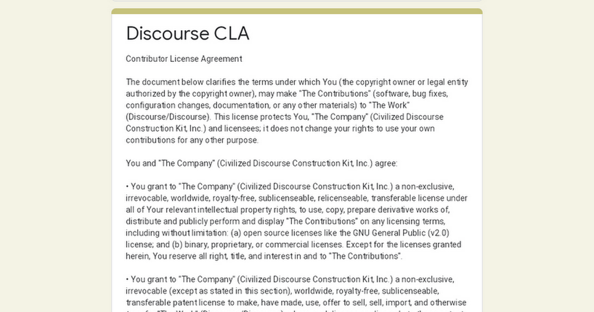 Discourse Cla