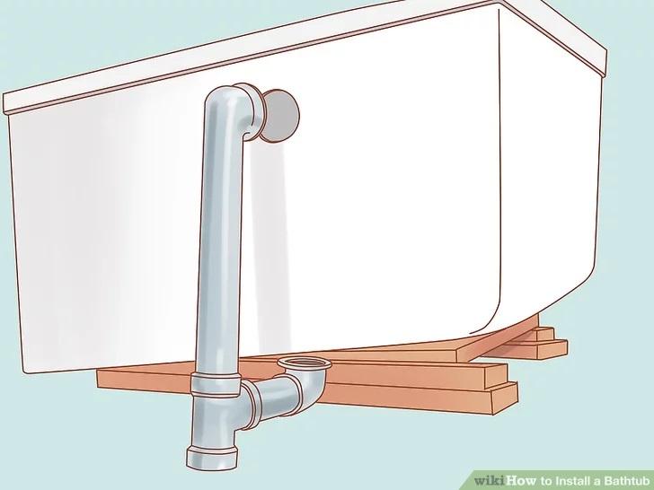 instalare scurgere montare cada baie