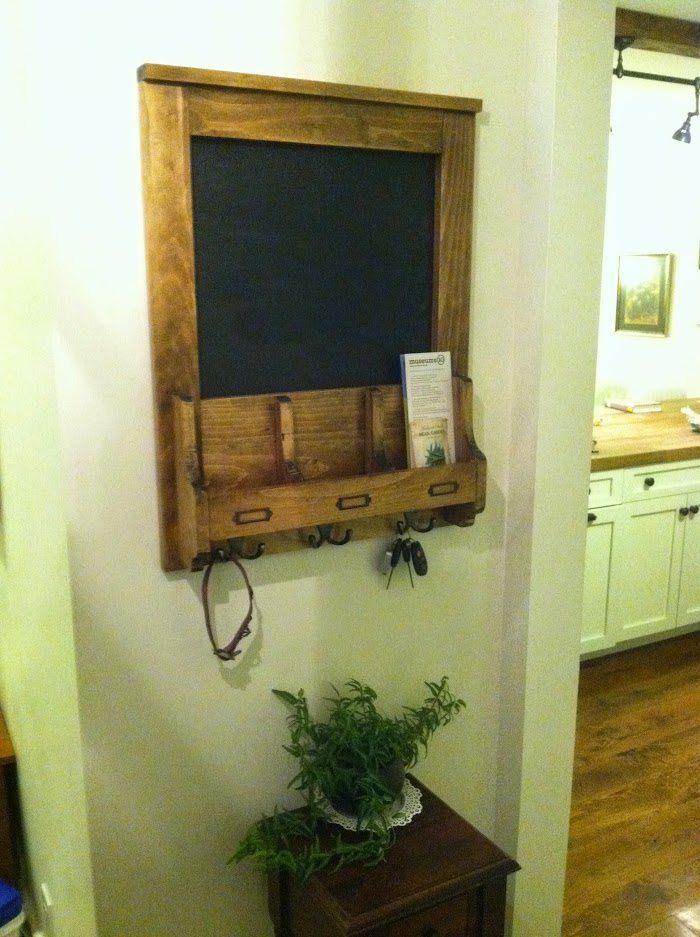 FInally hung DIY mail chalkboard
