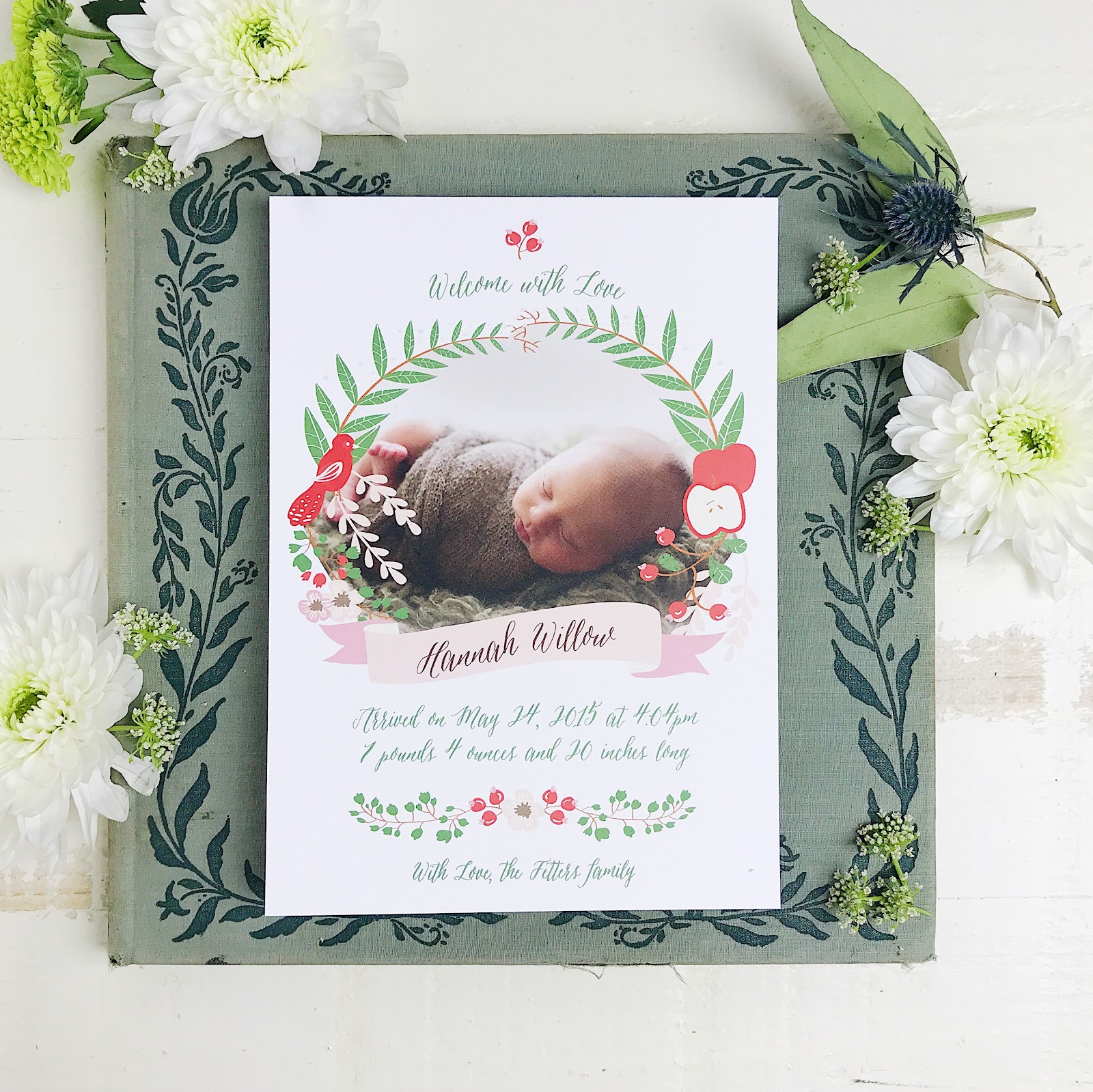 BASIC INVITE BABY ANNOUNCEMENTS