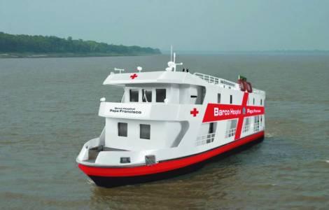 Tàu bệnh viện 'Đức Thánh Cha Phanxico' phục vụ các vùng Brazil chỉ có thể đến bằng đường sông