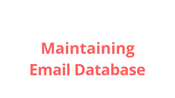 Simple steps to create and manage your email database