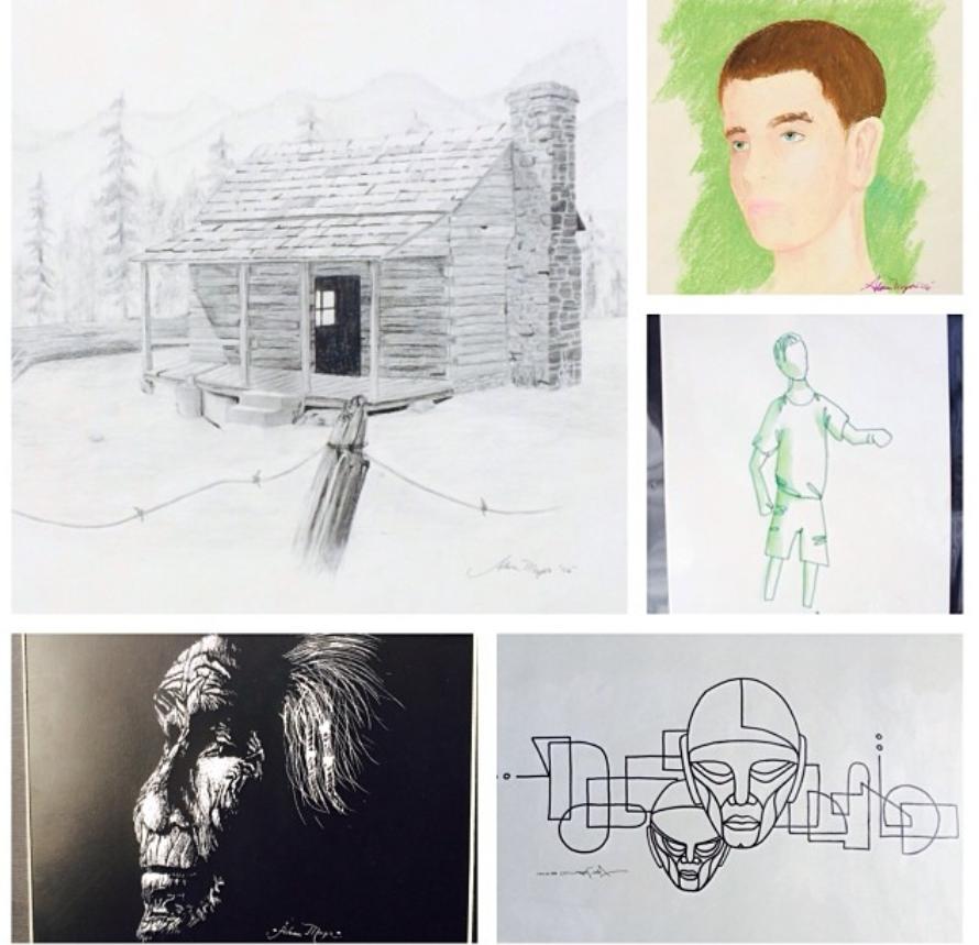 High school art portfolio examples.