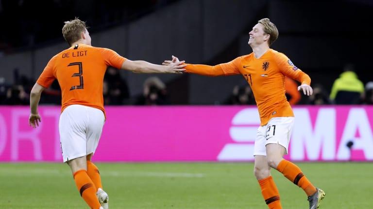 De Ligt và De Jong đang là một bộ đôi cực kỳ ăn ý tại tuyển Hà Lan