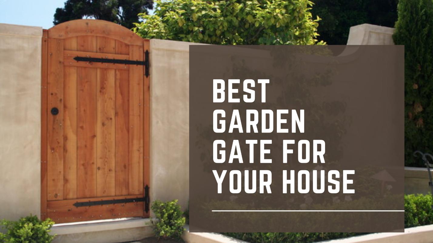 a stylish brown garden gate