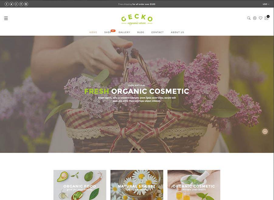 Organic woocommerce themes gecko
